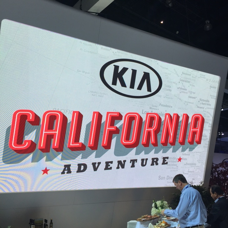 Kia booth at the LA Auto Show 2014