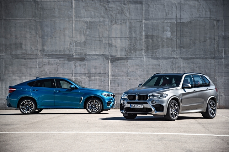 The all-new BMW X5 M and X6 M.  Photo credit BMW