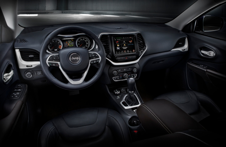 2015 Jeep Cherokee Interior Photo Credit: Chrysler Group Media