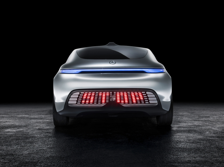 Mercedes-Benz F 015 Luxury in Motion Concept Car Rear LED lights Photo credit: Mercedes-Benz