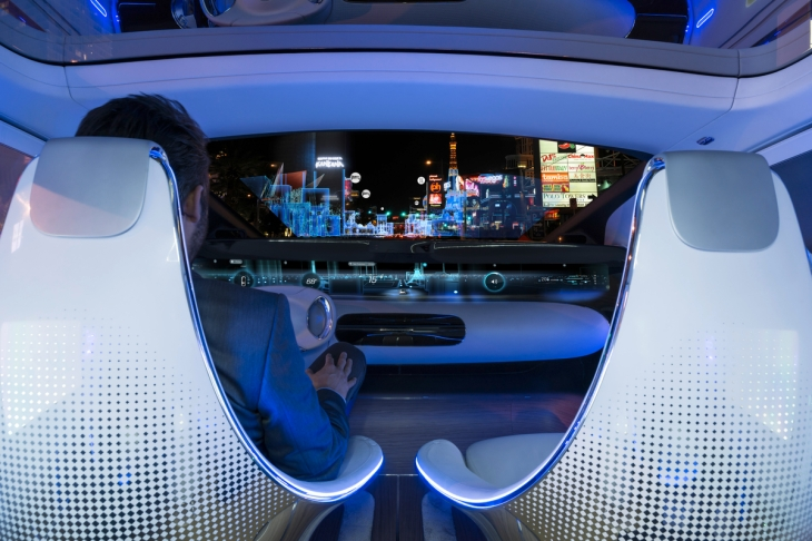 Mercedes-Benz F 015 Luxury in Motion Concept Car Interior Instrument Panel Photo credit: Mercedes-Benz