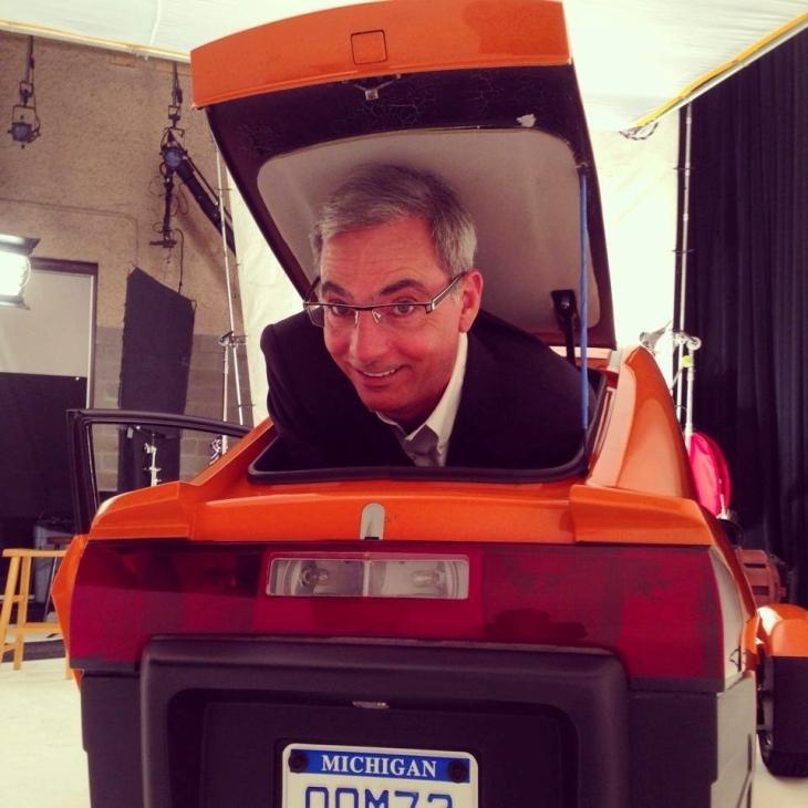 Elio Motors CEO Paul Elio fit in the trunk Photo Credit: Elio Motors