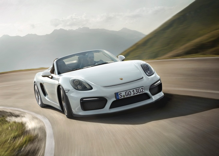 2016 Porsche Boxster Spyder Photo Credit: Porsche